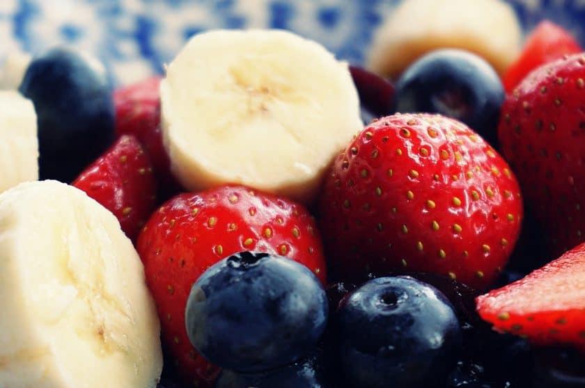 Bananas and berries